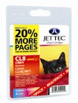 Jettec Printer Ink Cartridges (CL8 Cyan/Magenta/Yellow)
